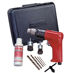 "3/8"" Heavy Duty Reversible Air Drill Kit"