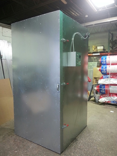 4' x 4' x 8' Economy Electric Powder Coat Oven, Powder Coat Equipment, Powder Coat Supplies,  Electric powder Coat Oven, Oven, Furnace, Coating, Cerakote, Firearm Coatings, industrial Coating