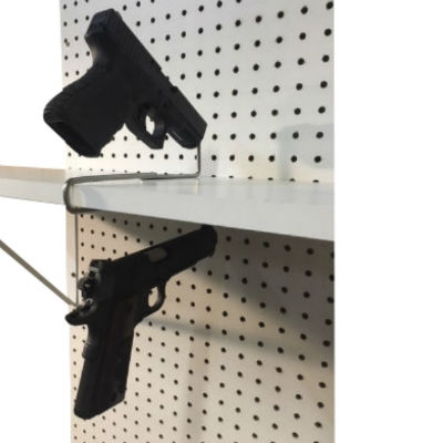 Double Handgun Shelf Mount Hanger