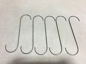 "12"" .120 Wire ""S"" Hooks, Masking, Hanging Parts, Powder Coating, 6"" Hooks, coating, Hanging, Painting, powder Supplies, Automotive"