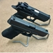 Single Counter Handgun Display 5 pcs