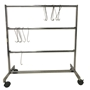 Economy Powder Coat Hook Storage Rack - Small
