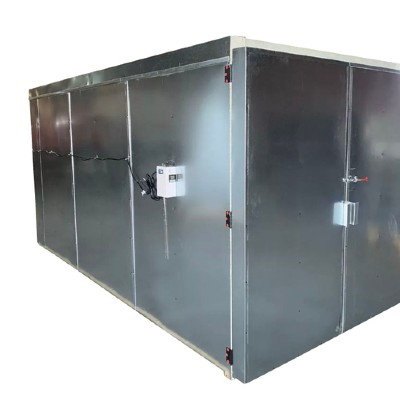 10' X 10' X 24' Gas Industrial  Powder Coat Curing Oven - Welded Tube Steel Frame